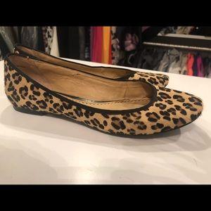 Leopard Calfhair ballet flats